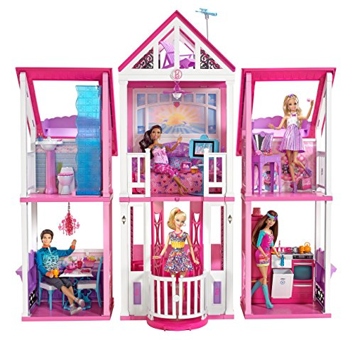 Barbie w3141 la casa di malibu case panorama auto for Accessori per la casa di barbie