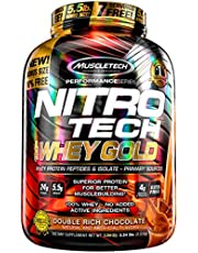 Muscletech Nitrotech Whey Gold Performance Series – 5.54 lbs, 2.51 kg (Double Rich Chocolate)