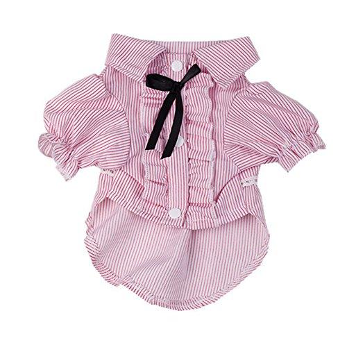 Romote Haustier Kleidung, komfortable Hund Shirt Lady/Gentleman Stil für Teddy, Chihuahua, kleine Hund Kleidung (Pink, L) - Womens Hawaiian Shirt