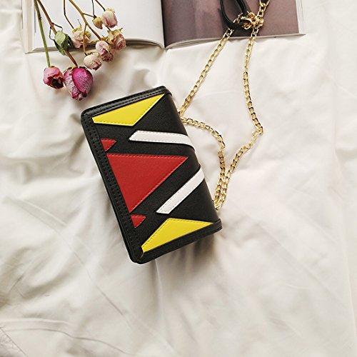 Hit die Farbe Der Schulterbeutel-Freizeithandtaschen Einfache Kette Kuriertasche Kleine Quadratische Tasche Gelb