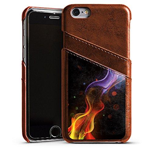 Apple iPhone 4 Housse Étui Silicone Coque Protection Brouillard Fumée Fumée Étui en cuir marron