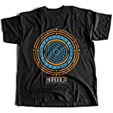 A002-342 Mandala Herren T-Shirt The Life is A Never Ending Journey Quote God Jesus Buddha Faith Religion Cult(Large,Black)