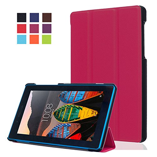 WindTeco Lenovo Tab3 7 Essential/Lenovo Tab3 A7-10 Hülle, Leder Schutzhülle mit Standfunktion für Lenovo Tab 3 7 Essential (Lenovo TB3-710F) 7,0 Zoll Tablet