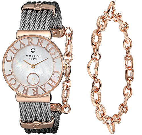 CHARRIOL ST-TROPEZ ST30PC.560.014 LADIES 30MM SAPPHIRE GLASS QUARTZ WATCH