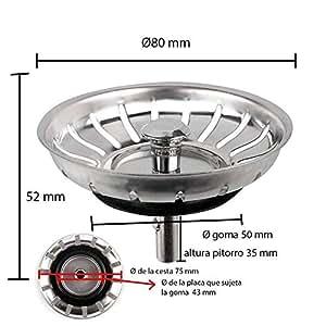 Sink Strainer Stopper Waste Plug Stainless Steel Universal
