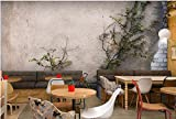 Yosot Tapete 3D Foto Wandbild Retro Nostalgie Zement Wand Pflanze Tapete Wohnzimmer Restaurant 3D Tapete-140cmx100cm