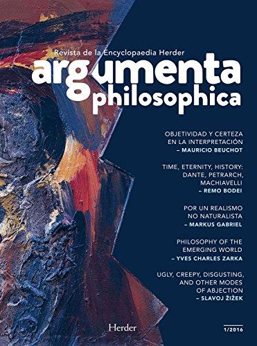Argumenta philosophica 2016/1 por Varios Autores