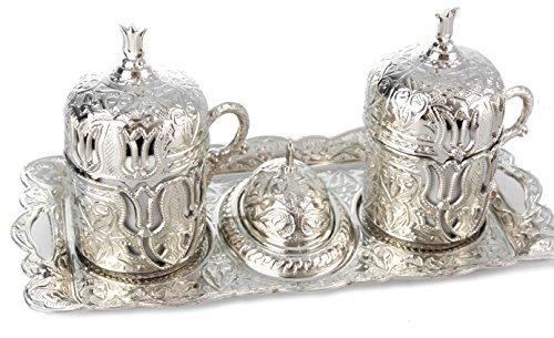 Kaffee Service Mokka Service Mokkaset Kahve Seti Türkische Mokkatassen Metall Porzellan