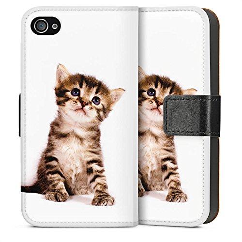 Apple iPhone 5s Housse étui coque protection Chat Bébé chat Kitten Sideflip Sac