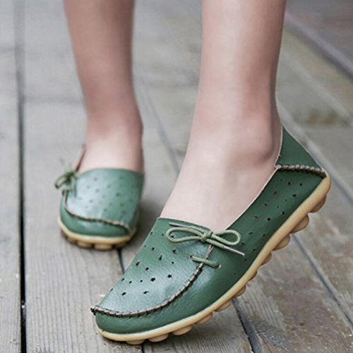 Pantofola Piatta Mocassino Donna New Vogue Moschettoni Neri