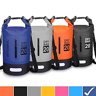 Blackace Dry Bag, 5L 10L 20L 30L WaterProof Dry Bag/Sack Waterproof Bag with Long Adjustable Strap for Kayaking Boat Tour Canoe/Fishing / Rafting/Swimming / Snowboarding from Blackace