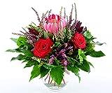 Blumenversand - Blumenstrauß versenden - zum Geburtstag - herbstlicher Strauß'Heideglück' - mit Gratis - Grußkarte zum Wunschtermin versenden
