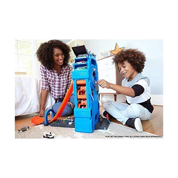 Hot Wheels Mega Autolavaggio Playset per Macchinine con Pista Selvaggia e Coccodrillo, Torre dell'Acqua, Vasca del… 3 spesavip