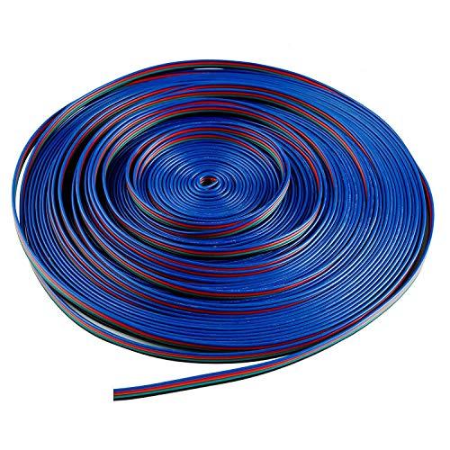 LITAELEK 10m RGB Verlängerungskabel 4 polig LED Band Verbindungskabel LED Strip Extension Kabel LED Stripe Verbinder LED Leiste Anschlusskabel für SMD 5050 3528 2835 RGB LED Streifen Licht (10m/33ft)