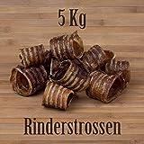 5 Kg Rinderstrossen Rinderluftröhren Kausnack Kauartikel - wie Pferdestrossen Dörrfleisch
