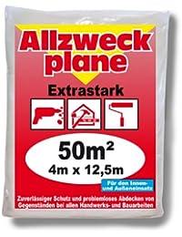 Jufol 10241 Bâche de protection Renforcée Intérieur / Extérieur 4 x 12,5 m (Import Allemagne)