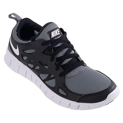 Nike - Free Run 2 (Gs), - Unisex – Adulto black - grey