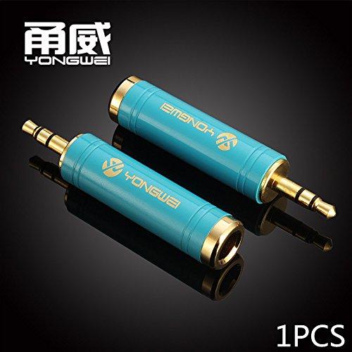 Audiokabel und Adapter, Yong Wei vergoldet 6,5 weiblich bis 3,5 öffentlichen Audio-Kopf 6,35 drei Kern zu 3,5 kleinen 3-Core-Audio-Kabel-Adapter ( Farbe : Blau ) Core-audio-kabel