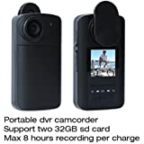 Conbrov® HD90 1.5 Inch LCD HD 720P Mini Pocket Camera Portable Video Recorder Clips Body Cam DVR with Time Lapse Password Protection Built-in 1600mAh Battery for Max 8 Hours Recording Per Charge