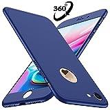 Coque iPhone 7 Losvick Housse PC Matière [360 degrés Protection] 3 en 1 Ultra Étui Mince Matte Case Anti Choc, Bumper Simple Élégant Cover pour iPhone 7 - 4.7pouces - Bleu