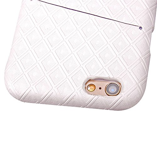 iPhone Case Cover Hard Cover diamant grille Lattice Motif Hard Cover Case Avec fente pour carte Pour Iphone 6S ( Color : Gray , Size : Iphone6S ) White