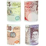 Bank Note Money Box Tin *Large* Open with Tin Opener NOVELTY Great Gift by Carousel Home