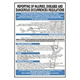 Bryson wc153regolamenti segnalazione di lesioni malattie Wallchart, 600mm di larghezza, lunghezza 420mm