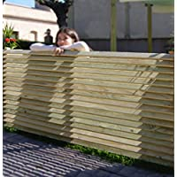 Panel de madera separador para vallas o techos, de madera tratada 160x90 cm