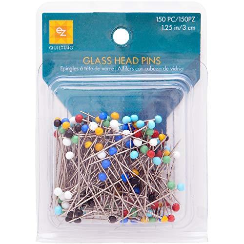 Ez quilting - spilli con testine di vetro, 150 pezzi