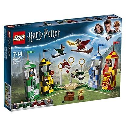 LEGO Harry Potter – Partido de Quidditch, Set de Construcción de Juguete del Deporte de Hogwarts (75956)