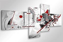 Idea Regalo - Quadro Moderno KANDINSKY MODERN - cm 160x70 Stampa su Tela Canvas Arredamento Arte Astratto XXL Arredo per Soggiorno Salotto Camera da letto Cucina Ufficio Bar Ristorante