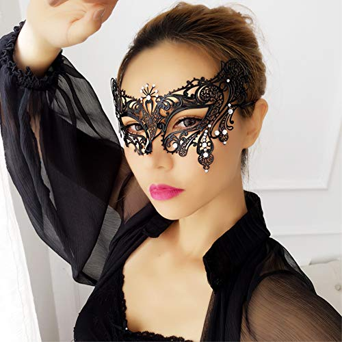 SKY TEARS Masquerade Maske Fashion Laser Geschnitten Strass Metall Venezianischen Cosplay ()
