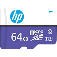 HP Micro SD Card 64GB with Adapter U3 (Purple) (Write Speed 60MB/s & Read Speed 100 MB/s Records 4K UHD and Fill HD…