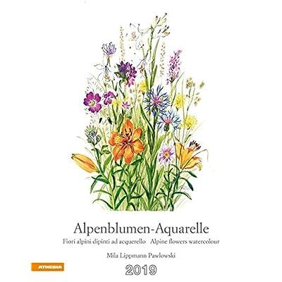 Alpenblumen-Aquarelle Kalender 2019 [Lingua Tedesca]