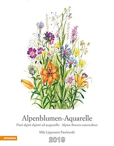 Alpenblumen-Aquarelle Kalender 2019