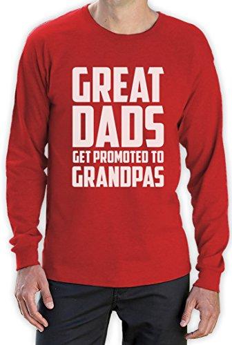 Geschenk Shirt für den Opa - Only Best Dads Get Promoted Langarm T-Shirt Rot