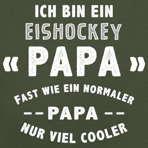 Ich bin ein Eishockey Papa - Herren T-Shirt - 13 Farben Olivgrün