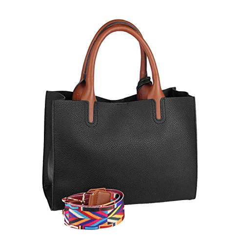 OBC Only-Beautiful-Couture, Borsa a spalla donna grigio Grau ca.: 32x24x12 cm (BxHxT) nero