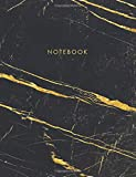 Notebook: Elegant Black Marble with Gold Inlay and Gold Lettering - Marble & Gold Jou...