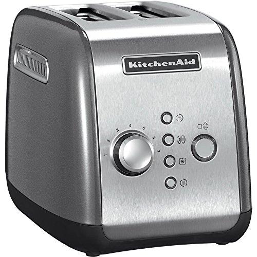 Kitchenaid 5KMT221ECU - Tostadora, 1100 W, color plateado