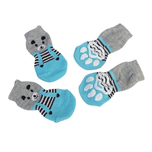 Leoboone Patrón Lindo Calcetines para Mascotas Suave Algodón Puro Perros Gatos Calcetines Dulces Calcetines de Piso para Interiores Suministros para Mascotas para la Primavera Otoño Invierno
