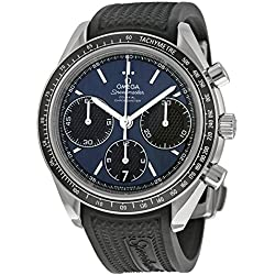 Omega 32632405003001 - Reloj de Pulsera Hombre, Caucho, Color Negro