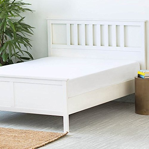"Oyo Baby Waterproof Mattress Protector Fleece Hypoallergenic Twin Bed Topper (White, 72""x48""xSkirting 12"") Image 6"