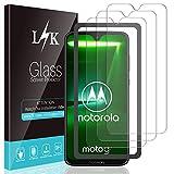 L K 3 Pièces Protection Écran pour Motorola G7/ Moto G7/ Motorola G7 Plus/Moto G7 Plus, [Anti-Rayures] [Kit d'installation Offert] [Haute Définition] Verre Trempé Film Protection