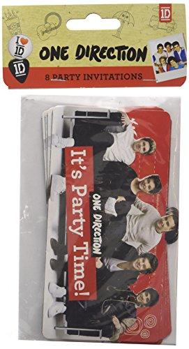 amscan One Direction Karte Einladungen und Umschläge (Direction Party One)