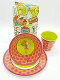 Sigikid Melaminset Florentine Kindergeschirr Geschenkset Melamin-Becher Melamin-Schüssel Melamin-Teller Farbe pink/grün