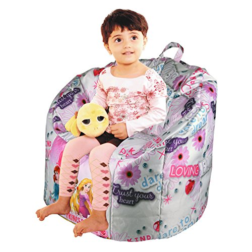 ORKA Princess Digital Printed Kids Boss Chair Filled with Beans  available at amazon for Rs.1999