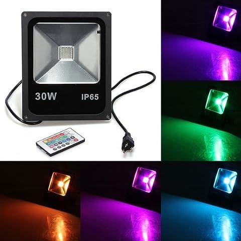 Luz de inundación de 20W RGB IP65 LED de lavado Jardín Lámpara 85-265V.