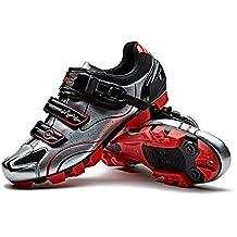 SANTIC Zapatillas Ciclismo MTB Zapatillas Bicicleta Montaña Hombre Zapatos Ciclismo Calzado Bicicleta Montaña Plateado ...