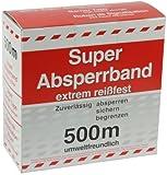 HaWe 99500 Absperrband 500 m aus Polyäthylen in rot/weiß